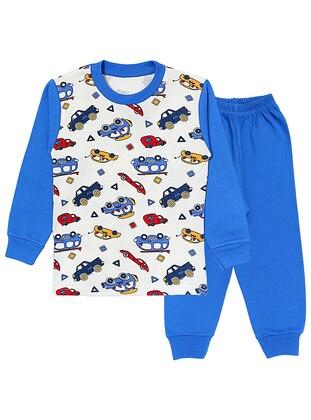 Crew neck - - Unlined - Blue - Boys` Pyjamas - Doba Kids