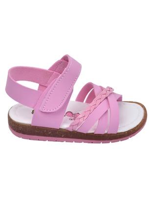 Pink - Girls` Sandals - Şirin Bebe