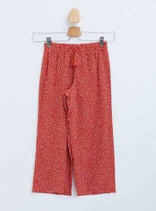 Maroon - Girls` Pants