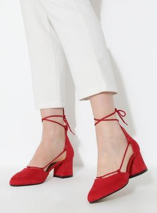 Red - Lamé - High Heel - Heels
