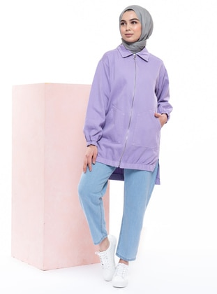 Lilac - Point Collar -  - Jacket