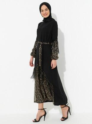 Gold - Black - Dress