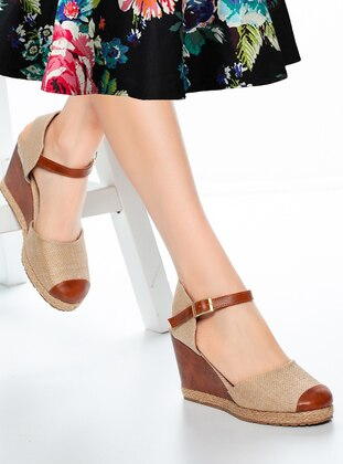 Tan - Sandal - High Heel - Heels
