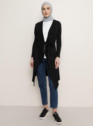 Black - Cardigan - Tavin
