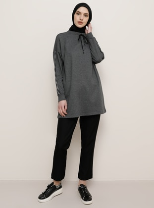 Anthracite - Crew neck -  - Tunic