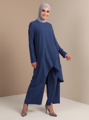Indigo - Unlined - Suit - Tavin