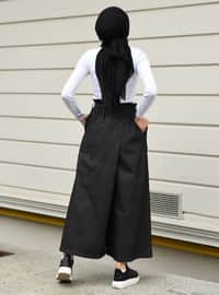 Black - Unlined - - Culotte