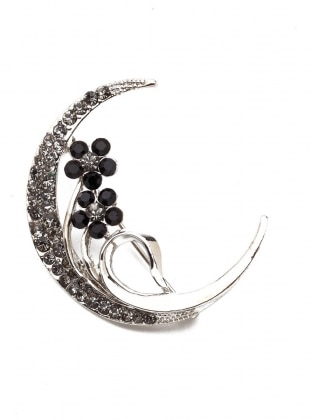 Multi - Silver tone - Brooch - Modex