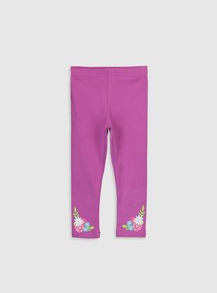 Purple - baby tights