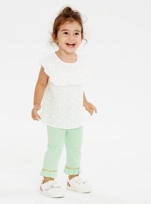 Green - baby tights - LC WAIKIKI