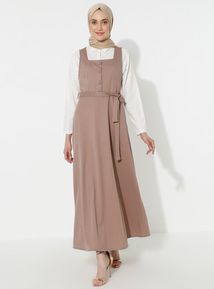 Mink - Sweatheart Neckline - Dress