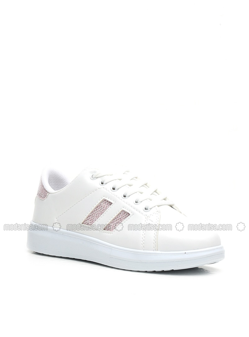 White - Pink - Sport - Sports Shoes - Ayakkabı Modası