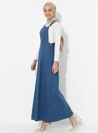Indigo - Sweatheart Neckline - Denim - Dress