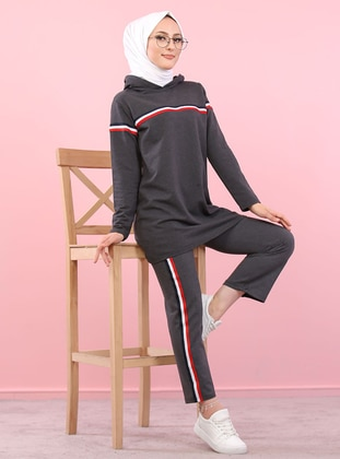 Anthracite -  - Tracksuit Set -  Sports