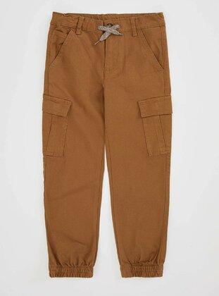 Brown - Boys` Pants - DeFacto