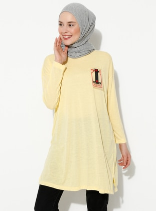Red - Yellow - Crew neck - Tunic