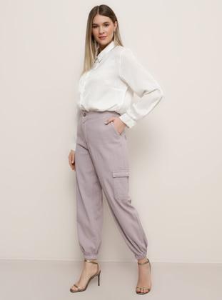 Lilac -  - Plus Size Pants