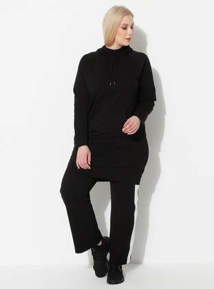 Black - Plus Size Sweatshirts - Palena