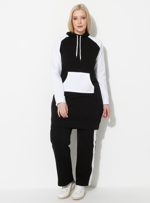 White - Black - Plus Size Sweatshirts - Palena