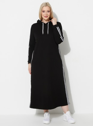 Black - Unlined - Plus Size Dress - Palena