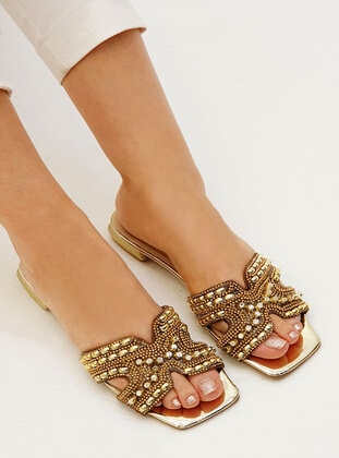 Gold - Slippers