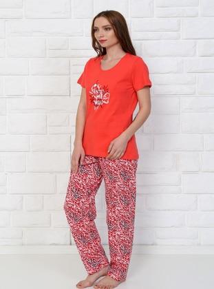 Coral - Crew neck -  - Pyjama Set