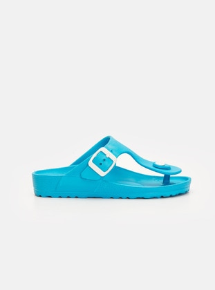 Turquoise - Boys` Sandals