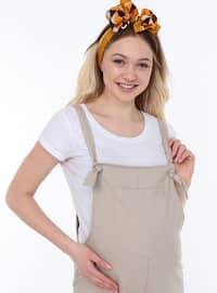 Beige - Unlined -  - Maternity Dress