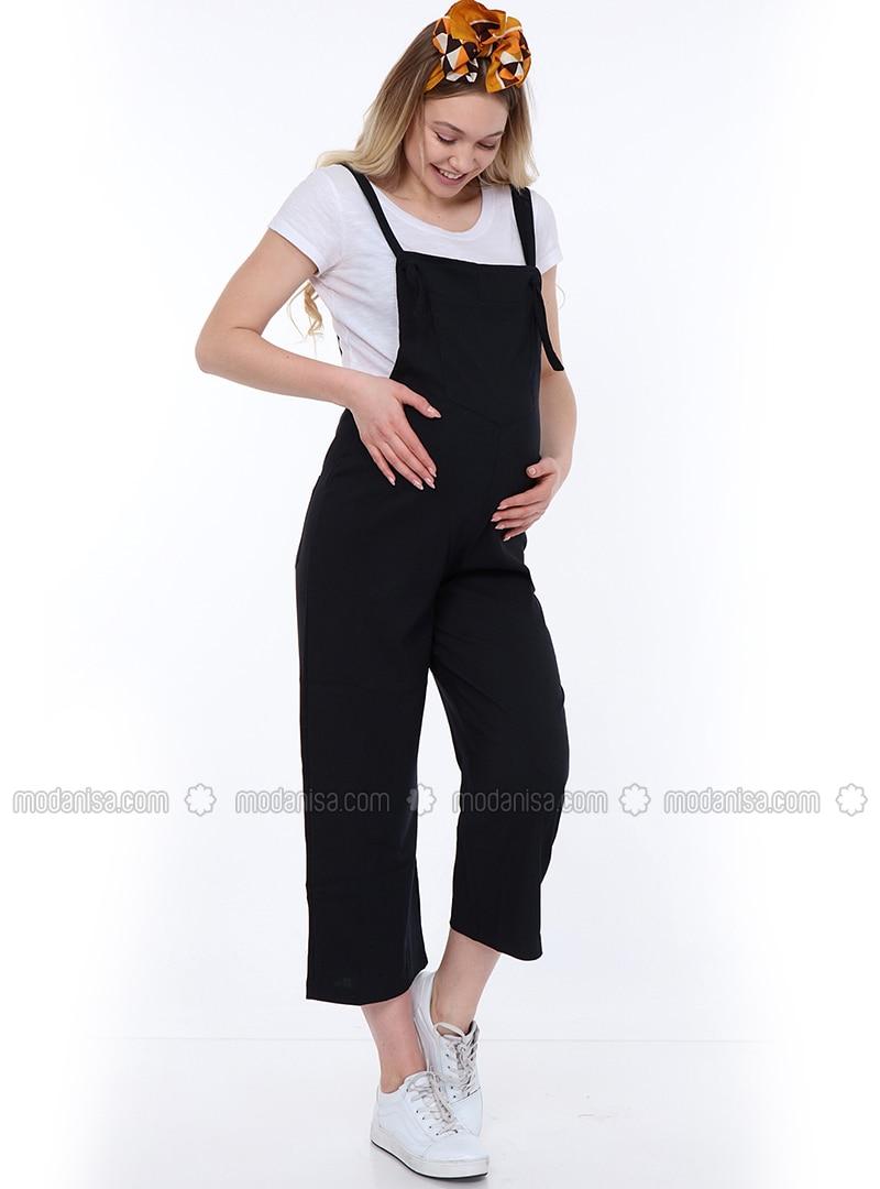 Navy Blue - Unlined -  - Maternity Dress