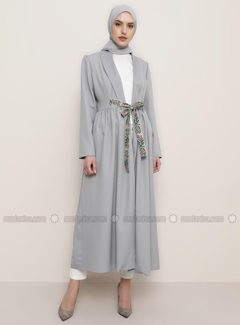 Gray - Shawl Collar - Topcoat