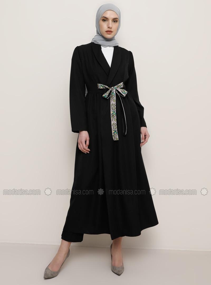 Black - Shawl Collar - Topcoat