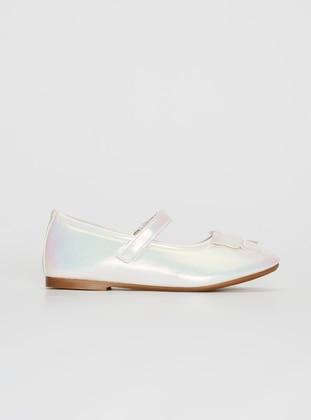 Ecru - Girls` Flat Shoes - LC WAIKIKI