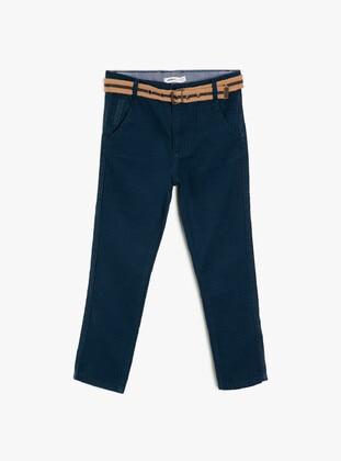 Blue - Boys` Pants - Koton