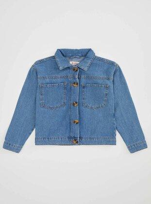 Blue - Girls` Jacket