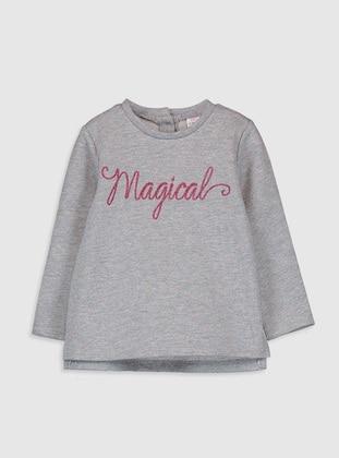 Gray - baby t-shirts - LC WAIKIKI