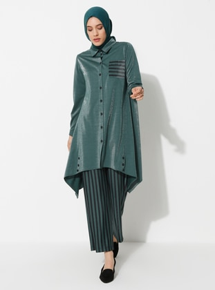 Khaki - Stripe - Suit