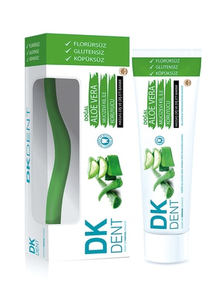 Aloe Vera Toothpaste + With Toothbrush - 75 Ml - Colored