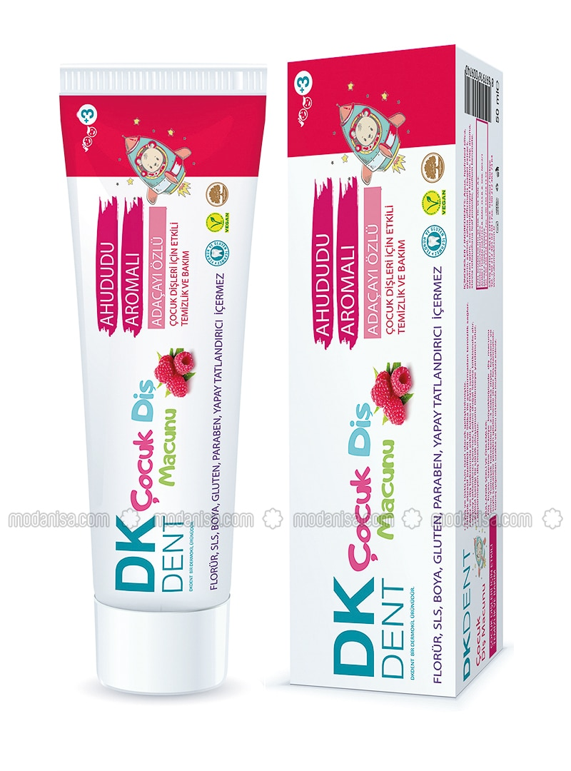 Kid`S Toothpaste With Raspberry Flavor + Toothbrush- 50 Ml - Colored