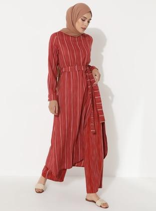Terra Cotta - Stripe - Unlined -  - Suit