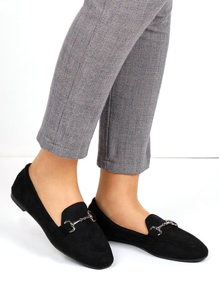 Black - Flat - Flat Shoes - Renkli Butik