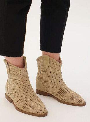 Beige - Boots