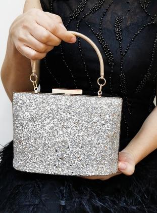 Gold - Satchel - Clutch - Clutch Bags / Handbags - Nazart