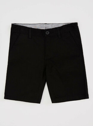 Black - Boys` Shorts - DeFacto