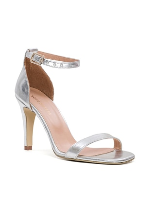 Silver tone - High Heel - Sandal