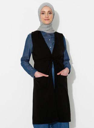 Black -  - Vest - İLMEK TRİKO