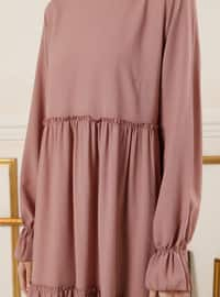 Dusty Rose - Crew neck - Unlined - Dress