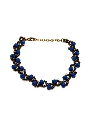 Navy Blue - Rose - Bracelet