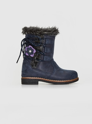 Navy Blue - Girls` Boots