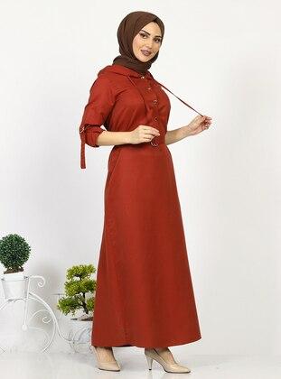 Terra Cotta - Unlined -  - Dress