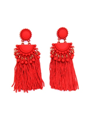 Red - Earring - Batı Accessories